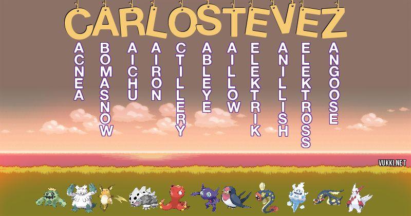 Los Pokémon de carlos tévez - Descubre cuales son los Pokémon de tu nombre