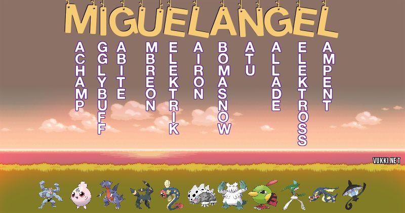Los Pokémon de miguel angel - Descubre cuales son los Pokémon de tu nombre