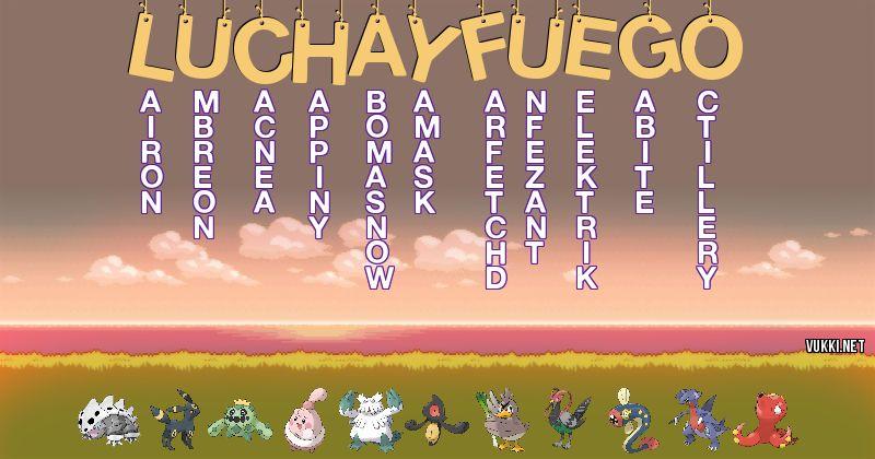 Los Pokémon de lucha y fuego - Descubre cuales son los Pokémon de tu nombre