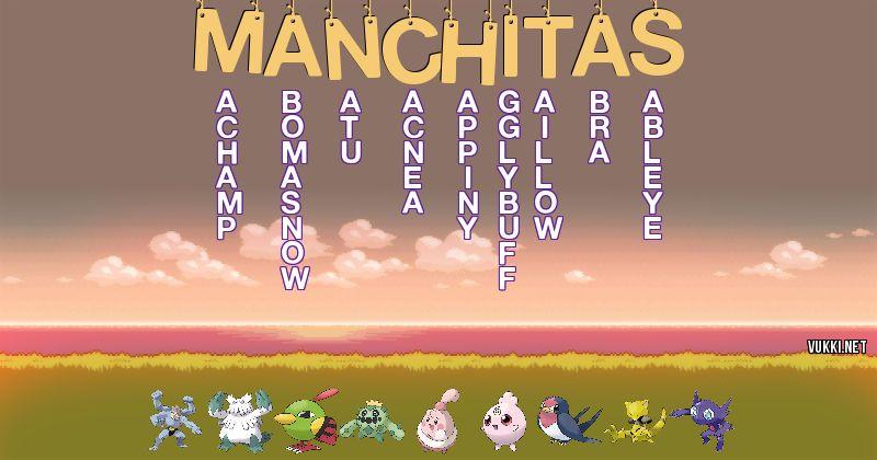 Los Pokémon de manchitas - Descubre cuales son los Pokémon de tu nombre