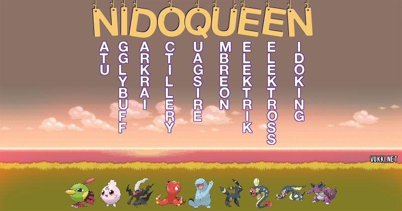 Los Pokémon de nidoqueen - Descubre cuales son los Pokémon de tu nombre