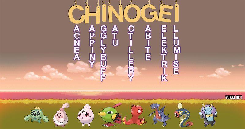 Los Pokémon de chino gei - Descubre cuales son los Pokémon de tu nombre
