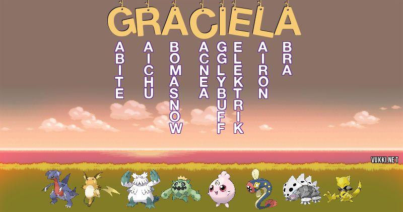 Los Pokémon de graciela - Descubre cuales son los Pokémon de tu nombre