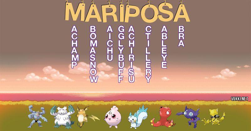 Los Pokémon de mariposa - Descubre cuales son los Pokémon de tu nombre