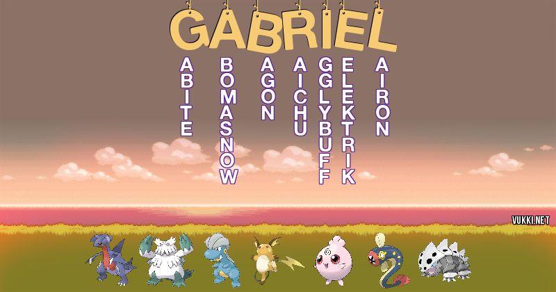 Los Pokémon de gabriel - Descubre cuales son los Pokémon de tu nombre