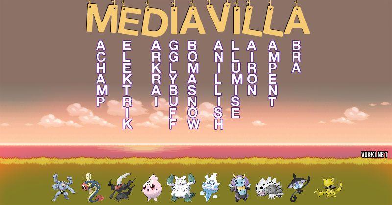 Los Pokémon de mediavilla - Descubre cuales son los Pokémon de tu nombre