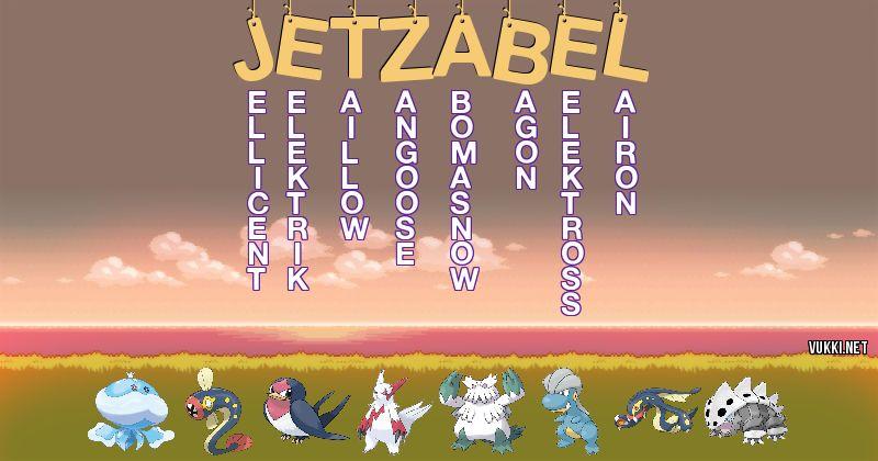 Los Pokémon de jetzabel - Descubre cuales son los Pokémon de tu nombre