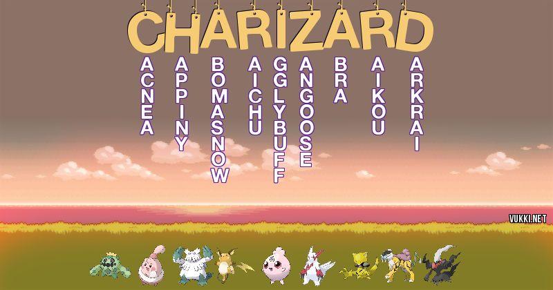 Los Pokémon de charizard - Descubre cuales son los Pokémon de tu nombre