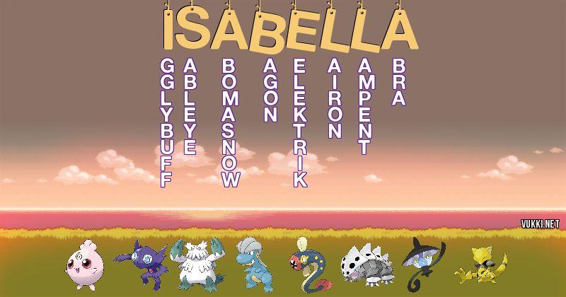 Los Pokémon de isabella - Descubre cuales son los Pokémon de tu nombre