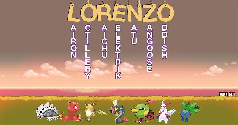 Los Pokémon de lorenzo - Descubre cuales son los Pokémon de tu nombre