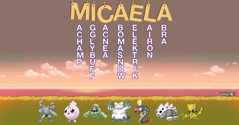 Los Pokémon de micaela - Descubre cuales son los Pokémon de tu nombre