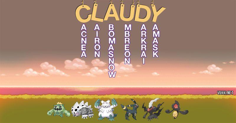 Los Pokémon de claudy - Descubre cuales son los Pokémon de tu nombre