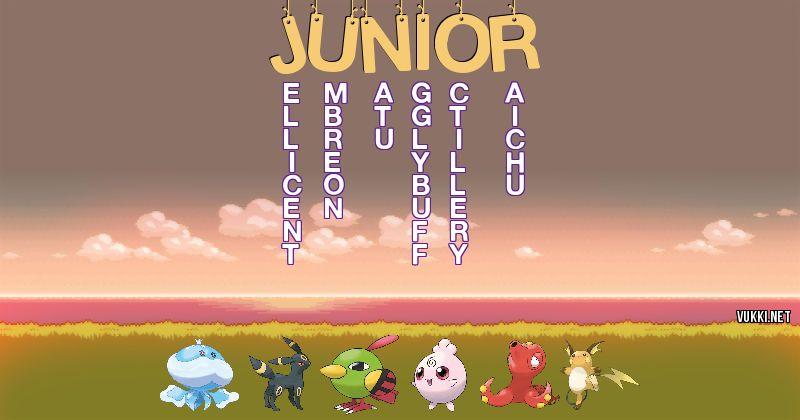 Los Pokémon de junior - Descubre cuales son los Pokémon de tu nombre