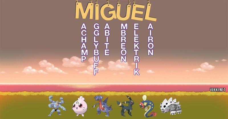 Los Pokémon de miguel - Descubre cuales son los Pokémon de tu nombre