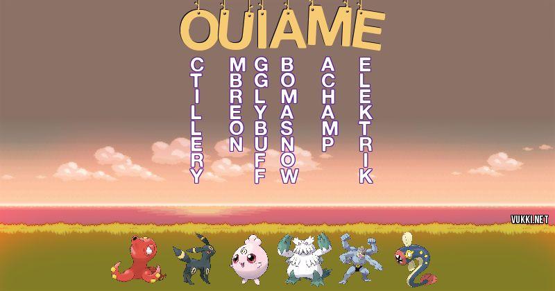Los Pokémon de ouiame - Descubre cuales son los Pokémon de tu nombre