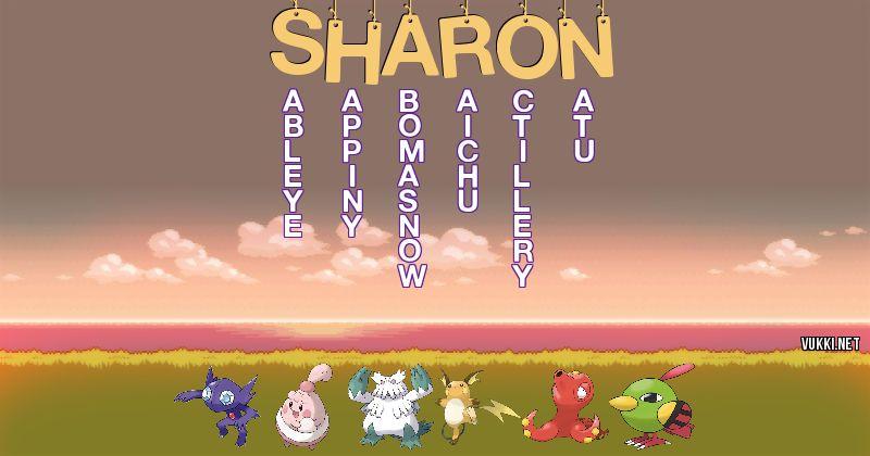 Los Pokémon de sharon - Descubre cuales son los Pokémon de tu nombre