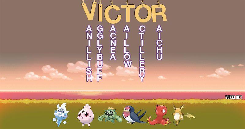 Los Pokémon de victor - Descubre cuales son los Pokémon de tu nombre