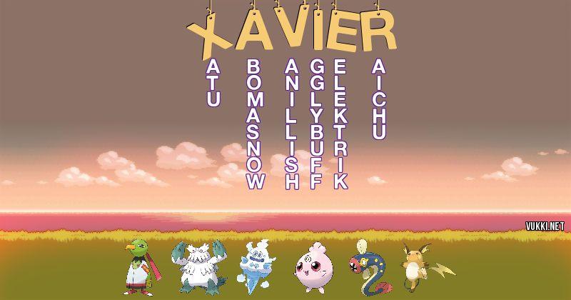 Los Pokémon de xavier - Descubre cuales son los Pokémon de tu nombre
