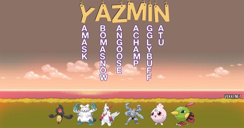 Los Pokémon de yazmin - Descubre cuales son los Pokémon de tu nombre