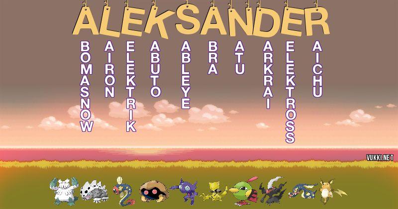 Los Pokémon de aleksander - Descubre cuales son los Pokémon de tu nombre