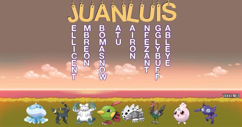 Los Pokémon de juan luis - Descubre cuales son los Pokémon de tu nombre