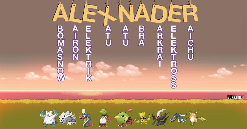 Los Pokémon de alexnader2.0.20.20 - Descubre cuales son los Pokémon de tu nombre