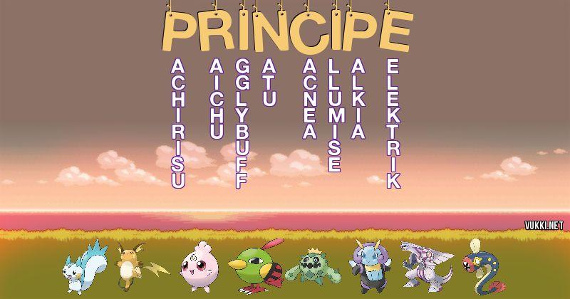 Los Pokémon de príncipe - Descubre cuales son los Pokémon de tu nombre