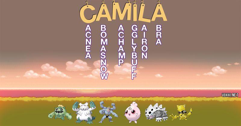 Los Pokémon de camila - Descubre cuales son los Pokémon de tu nombre