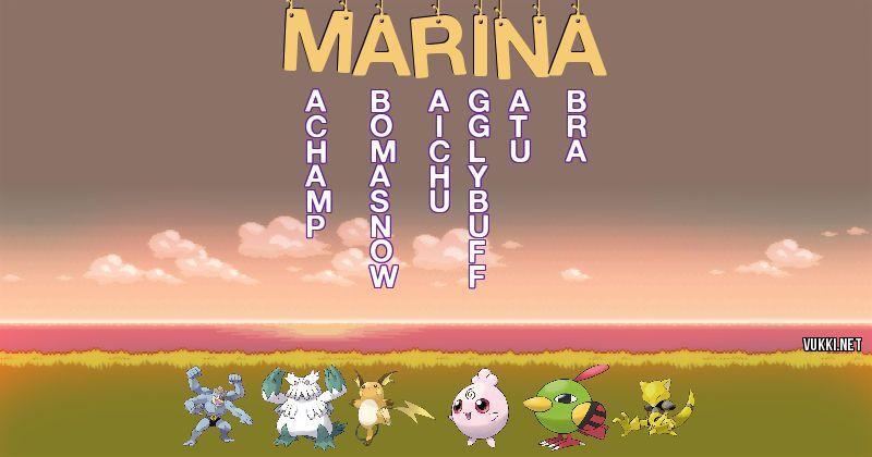 Los Pokémon de marina - Descubre cuales son los Pokémon de tu nombre
