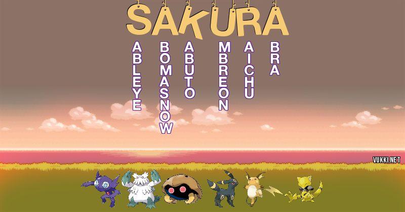 Los Pokémon de sakura - Descubre cuales son los Pokémon de tu nombre
