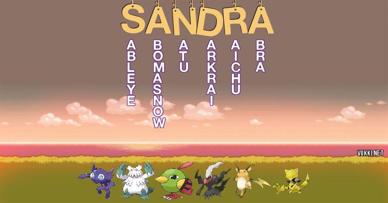 Los Pokémon de sandra - Descubre cuales son los Pokémon de tu nombre