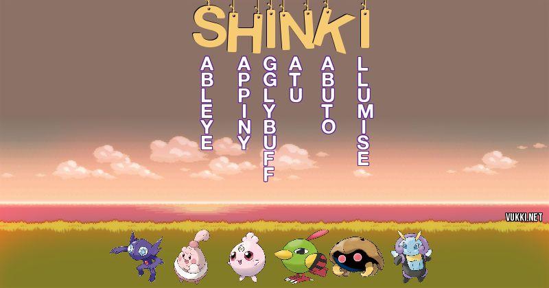 Los Pokémon de shinki - Descubre cuales son los Pokémon de tu nombre