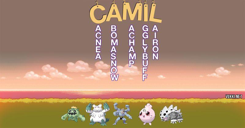 Los Pokémon de camil - Descubre cuales son los Pokémon de tu nombre