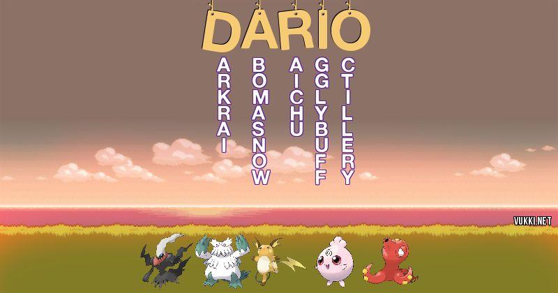 Los Pokémon de dario - Descubre cuales son los Pokémon de tu nombre
