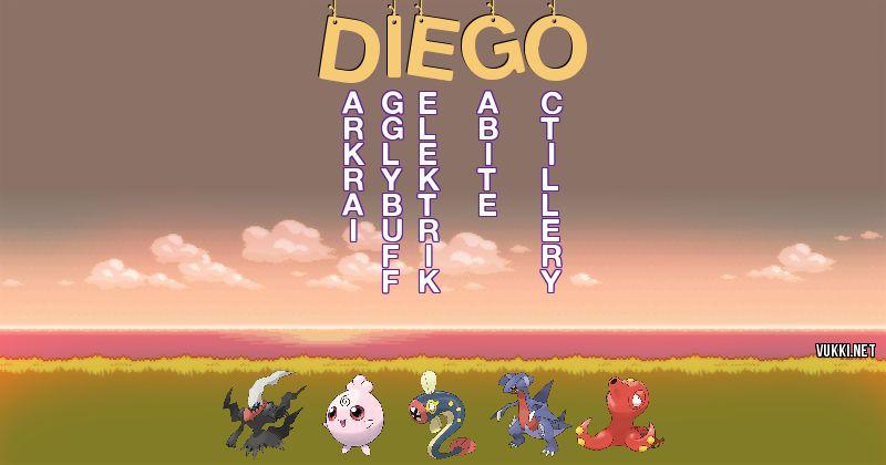 Los Pokémon de diego - Descubre cuales son los Pokémon de tu nombre