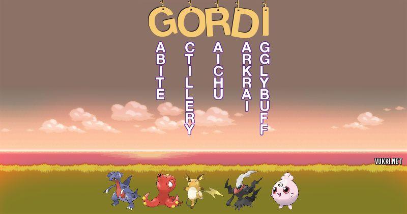 Los Pokémon de gordi - Descubre cuales son los Pokémon de tu nombre