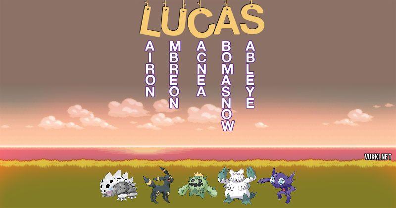 Los Pokémon de lucas - Descubre cuales son los Pokémon de tu nombre