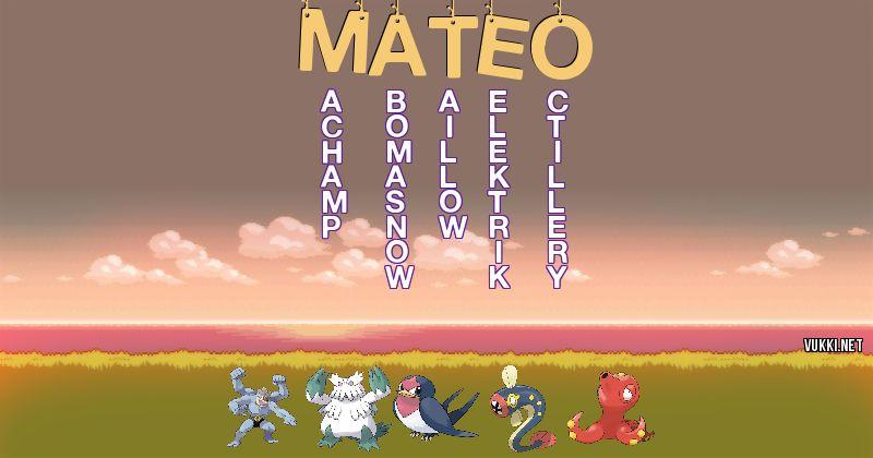Los Pokémon de mateo - Descubre cuales son los Pokémon de tu nombre