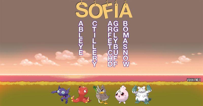 Los Pokémon de sofia - Descubre cuales son los Pokémon de tu nombre