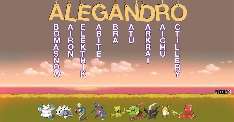Los Pokémon de alegandro - Descubre cuales son los Pokémon de tu nombre