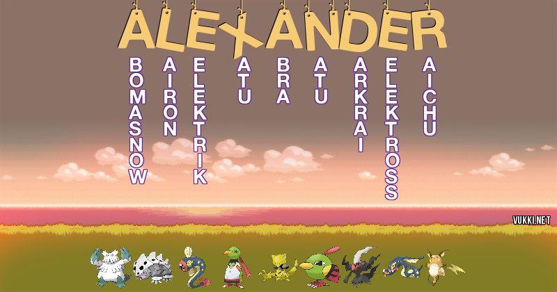 Los Pokémon de alexander - Descubre cuales son los Pokémon de tu nombre