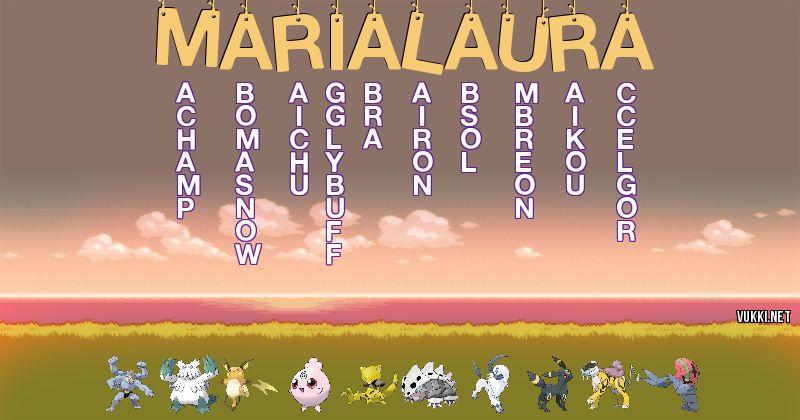 Los Pokémon de maria laura - Descubre cuales son los Pokémon de tu nombre