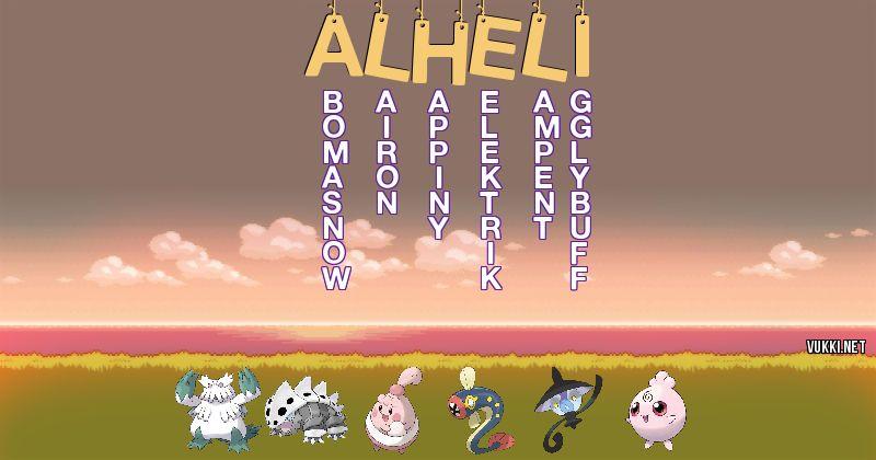 Los Pokémon de alheli - Descubre cuales son los Pokémon de tu nombre