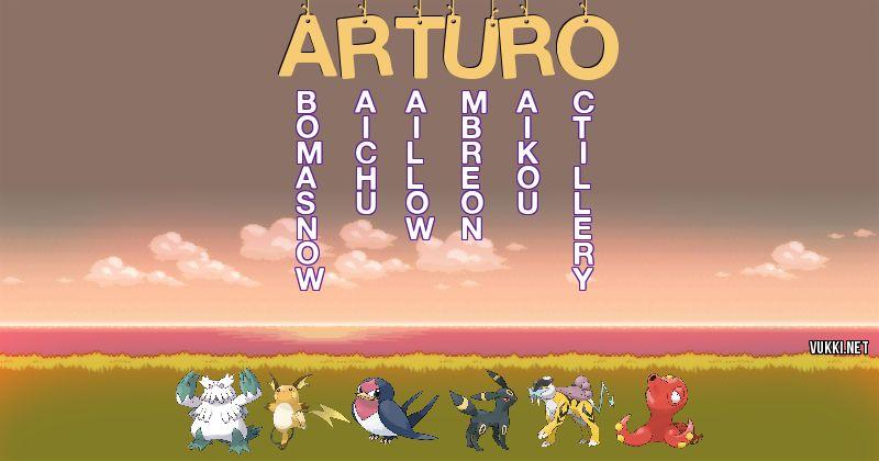 Los Pokémon de arturo - Descubre cuales son los Pokémon de tu nombre