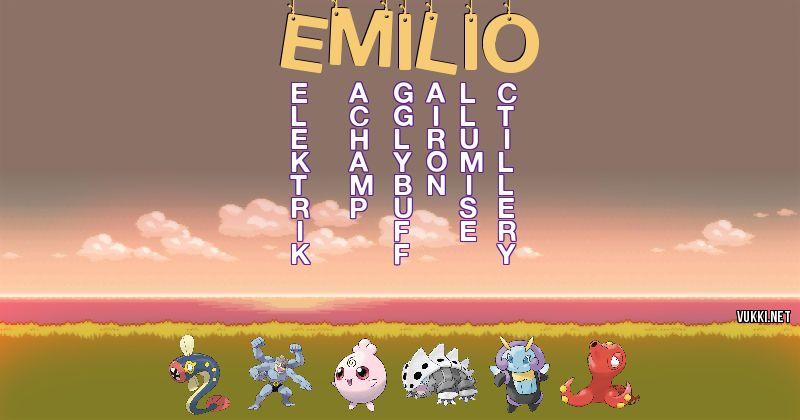 Los Pokémon de emilio - Descubre cuales son los Pokémon de tu nombre
