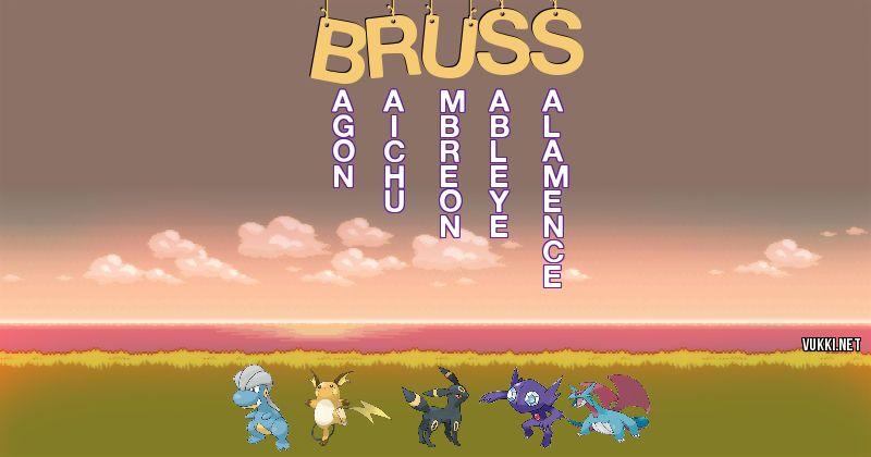 Los Pokémon de bruss - Descubre cuales son los Pokémon de tu nombre