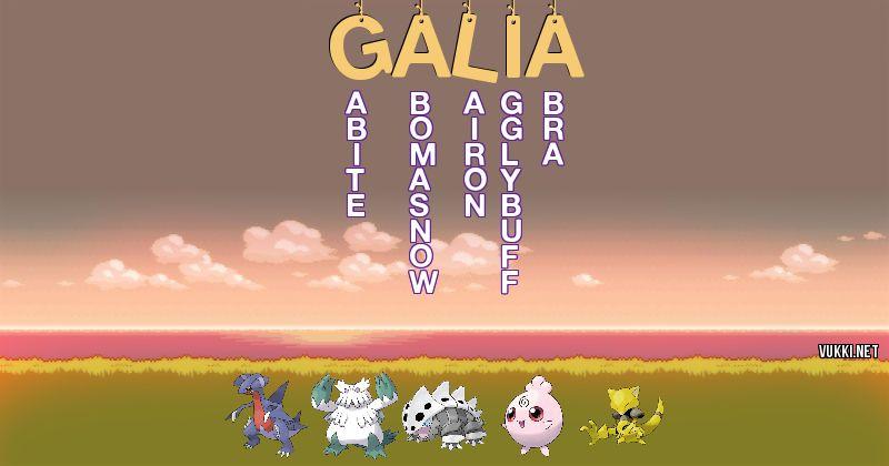 Los Pokémon de galia - Descubre cuales son los Pokémon de tu nombre