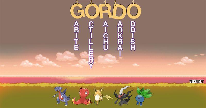 Los Pokémon de gordo - Descubre cuales son los Pokémon de tu nombre