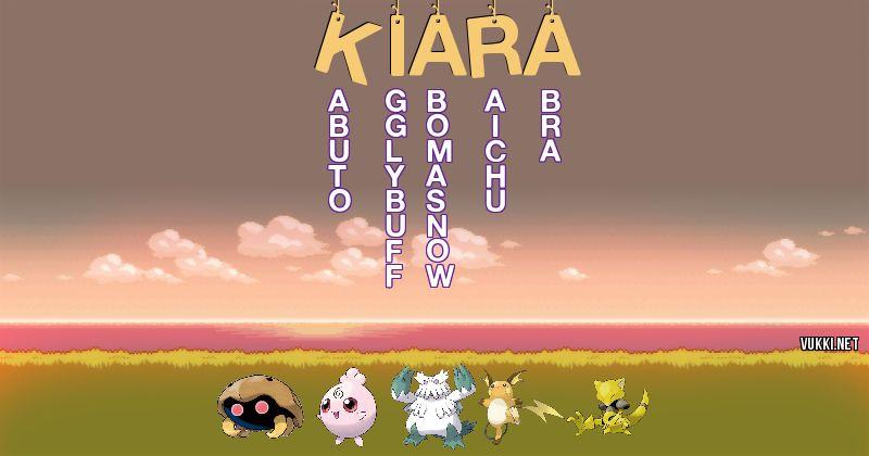 Los Pokémon de kiara - Descubre cuales son los Pokémon de tu nombre