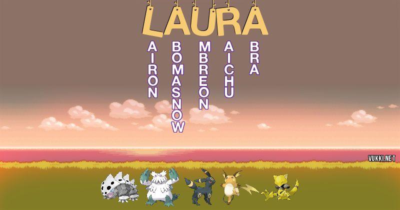 Los Pokémon de laura - Descubre cuales son los Pokémon de tu nombre